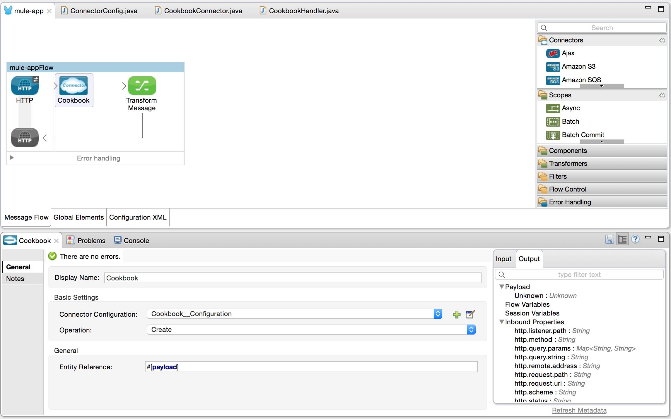 Devkit tutorial mulesoft ref only output baditri Choice Image